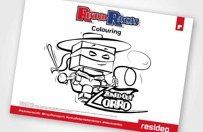 Zoned-out Zorro Colouring